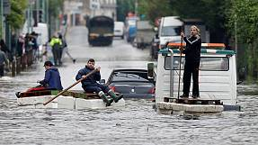 Heavy rain and flooding in France and Germany