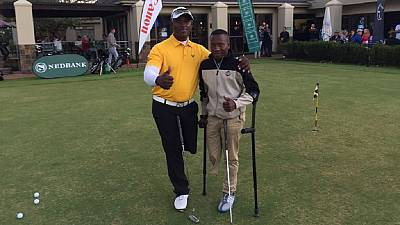 South African amputee teen lighting up golf world