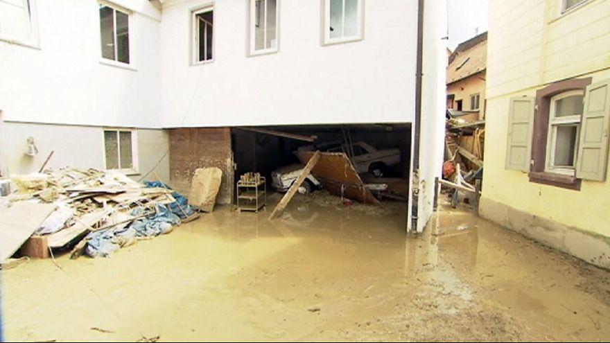 Aufräumarbeiten in Braunsbach: Flüchtlinge helfen Einwohnern