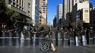 Shocking scenes at disabled protest in Bolivia