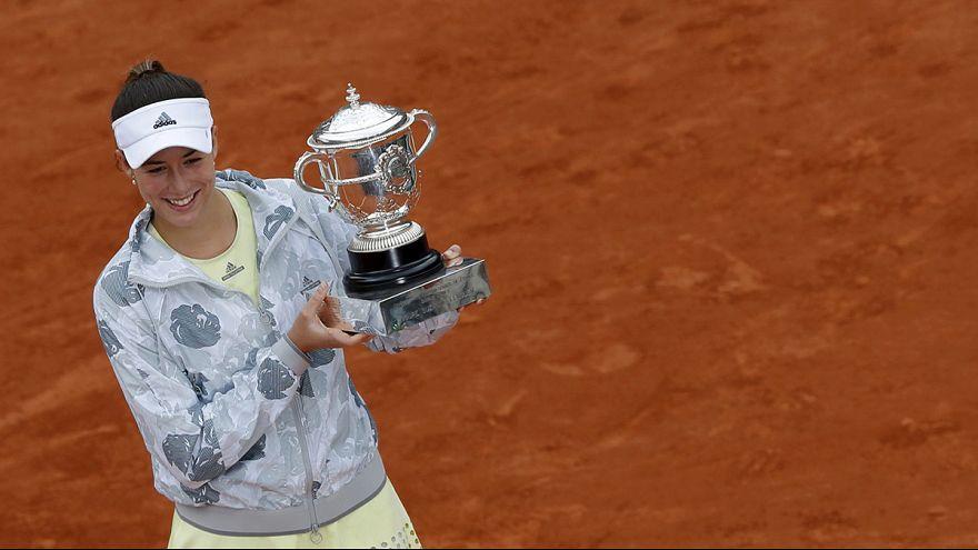 Garbiñe Muguruza se proclama campeona de Roland Garros