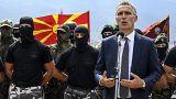 Image: NATO Secretary General Jens Stoltenberg visits Skopje