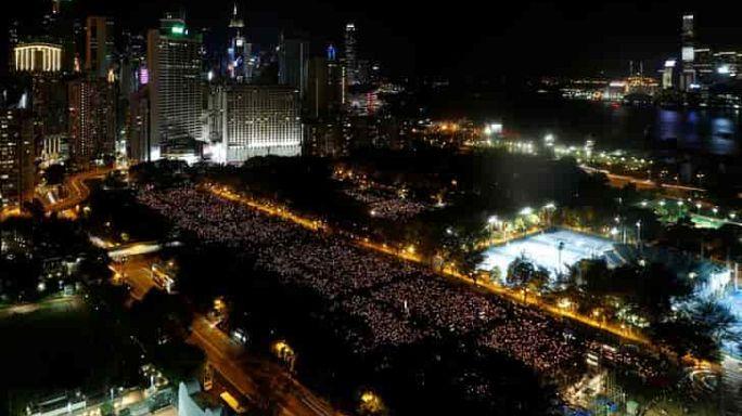 Miles de personas recuerdan en Hong Kong la matanza de Tiananmen, 27 años después