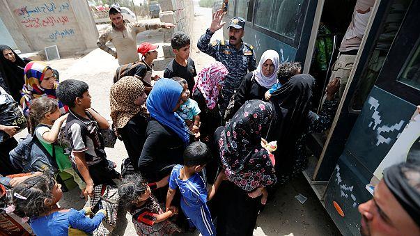 نزوح آلاف العراقيين من الفلوجة المحاصرة من طرف القوات العراقية