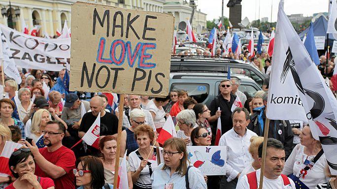 Поляки против реформ правительства консерваторов