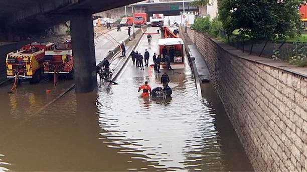 Flood water receding in Paris