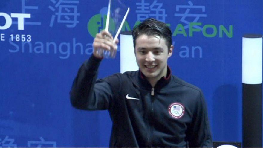 Alexander Massialas gana el oro en el Gran Premio de Shanghái de esgrima