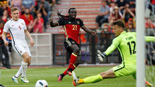 Euro 2016 hazırlıklarını sürdüren Belçika, Norveç karşısında zorlandı