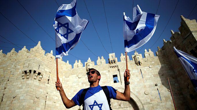 Jeruzsálem-napi menet feszült légkörben