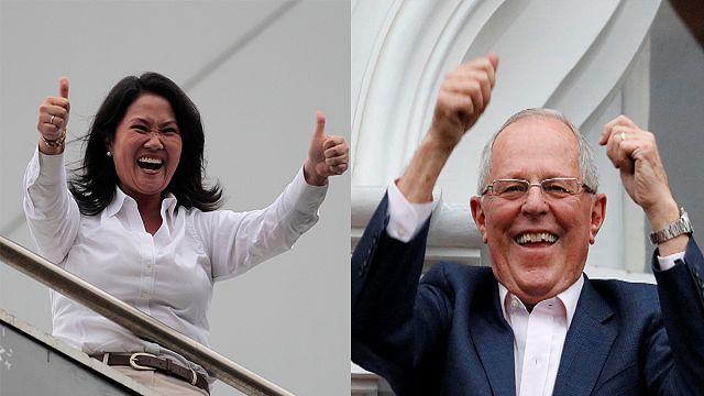 Mindkét jelölt ünnepel, de hajszállal Kuczynski nyerhette a perui elnökválasztást