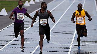 Rio de Janeiro : le sprinter américain Justin Gatlin remporte le Mano à Mano