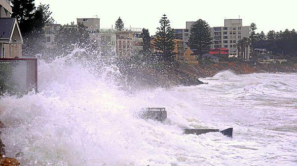 Sydney vom Sturm getroffen
