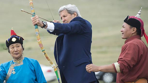 "Kerry attends ""naadam"" competition in Mongolia"