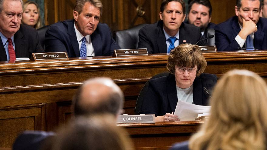 Image: Rachel Mitchell, counsel for Senate Judiciary Committee Republicans,