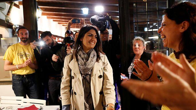 El Movimiento 5 Estrellas lidera en Roma las municipales en primera vuelta