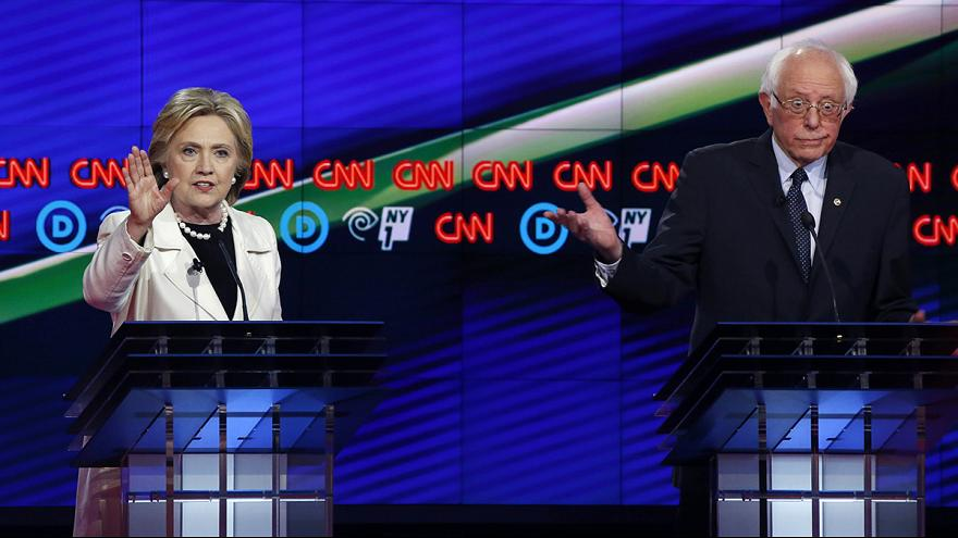 """Clinton and Sanders contest the last Democratic """"Super Tuesday"""""""
