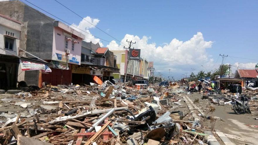 Image: Debris from the tsunami in Palu, Indonesia.