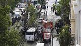 Al menos once muertos en un atentado contra un autobús policial en el centro de Estambul