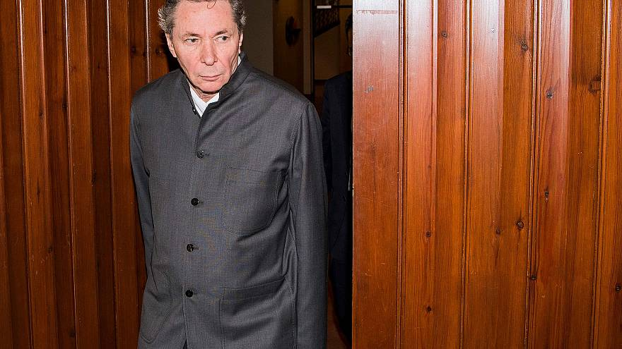 Image: Frenchman Jean-Claude Arnault arrives at the district court in Stock