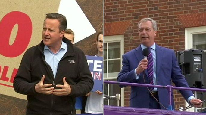 Vezet a Brexit-tábor a Cameron-Farage vita előtt