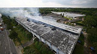 Un incendie ravage un centre de réfugiés en Allemagne