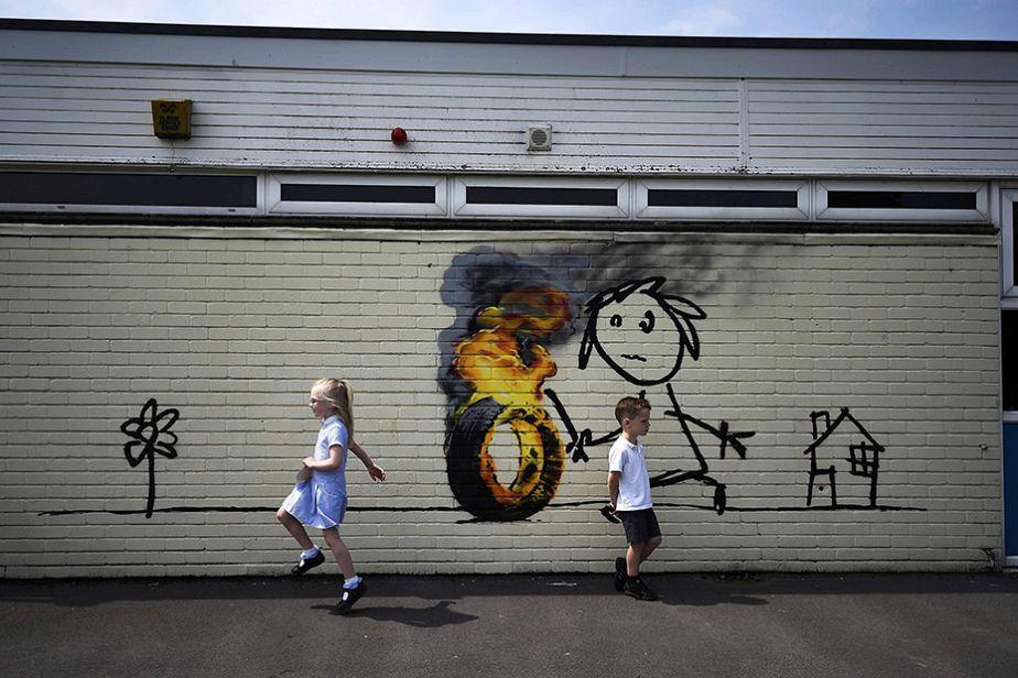 La surprise de Banksy aux enfants de Bristol