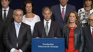Le triathlète Gomez Noya, Prix Princesse des Asturies catégorie Sport