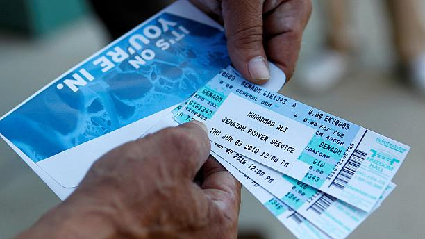 Tickets for Muhammad Ali memorial service sees long queues