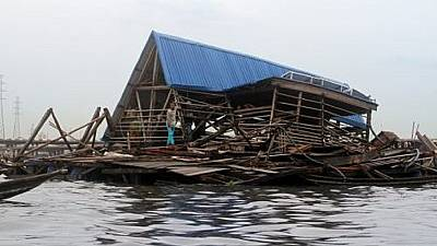 Lagos' iconic 'Floating School' collapses during heavy rains