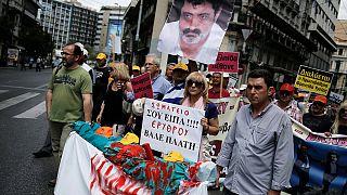 Görög kórházi dolgozók tüntetése