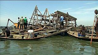 Makoko, un bidonville de Lagos dévasté par une tempête