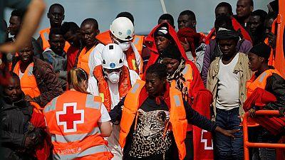 Une centaine de migrants secours au large des côtes libyennes