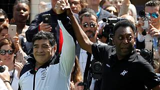 Pele and Maradona usher in Euro 2016 tournament