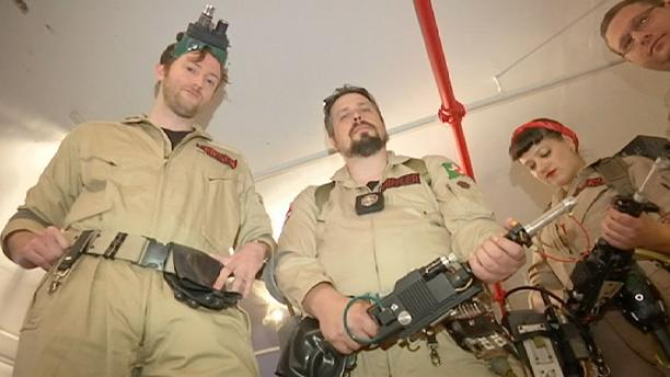 """""""Ghostbusters"""" fans gather to catch NY ghouls"""