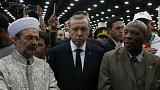 Turkey's Erdogan cuts short Muhammad Ali funeral visit