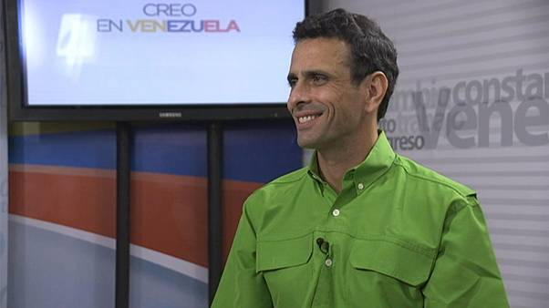 Henrique Capriles, the leader of Venezuela's opposition, talks to Euronews