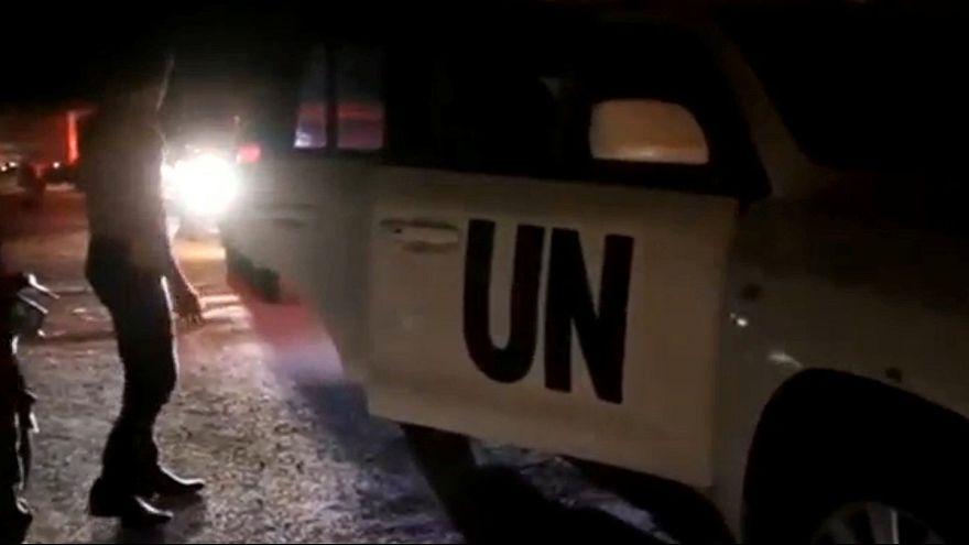 Comboio humanitário chega a Daraya