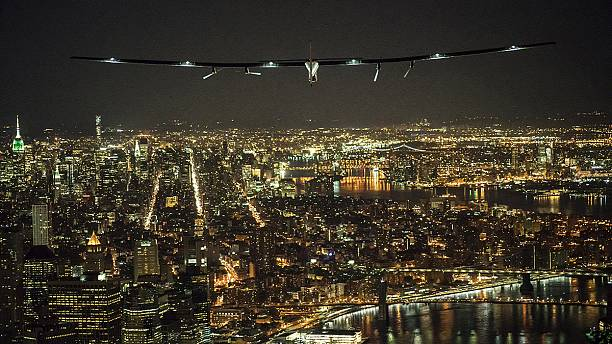 Solar plane sets down in NYC as round the world trip continues