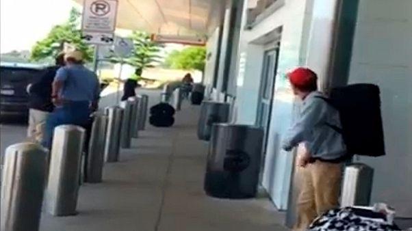 فيديو لاطلاق نار في مطار دالاس