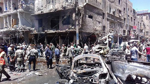 Kettős merénylet Damaszkusz peremvárosában, többen meghaltak