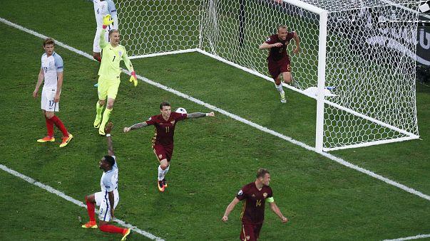 Россия вырвала ничью у Англии, победы Швейцарии и Уэльса