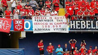 Euro 2016: Ανθελληνικό πανό στο Αλβανία - Ελβετία