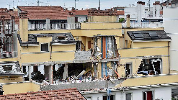 Hatalmas gázrobbanás Milánóban