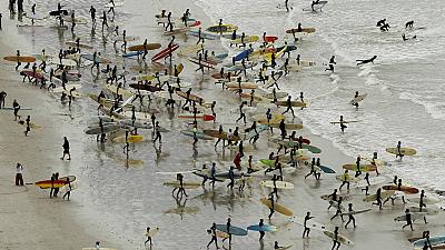 South African street children surfing to a better life