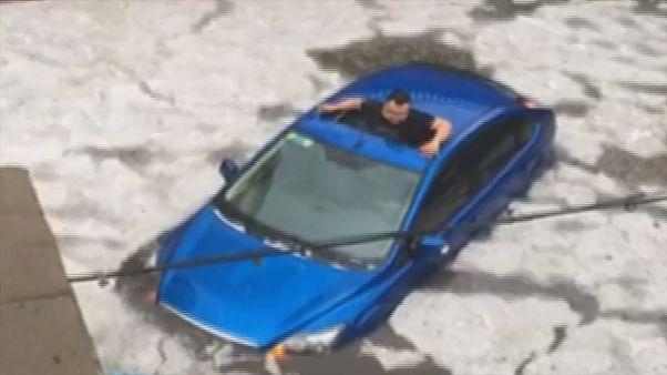 Tempestades de granizo provocam dois mortos no norte da China