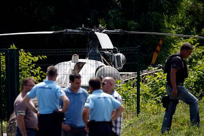 The helicopter abandoned after Redoine Faid escaped from prison on July 1.