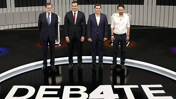 Spain's party leaders fight for votes in TV debate