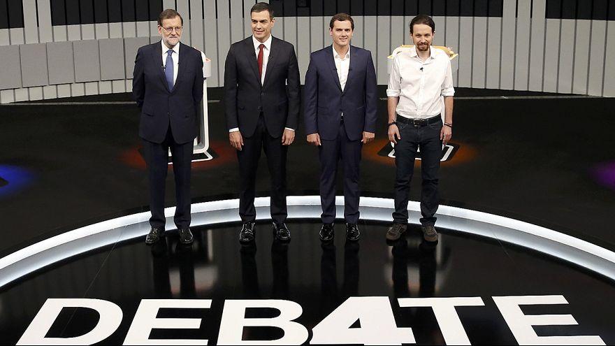Tévévitában győzködték szavazóikat a spanyol miniszterelnökjelöltek