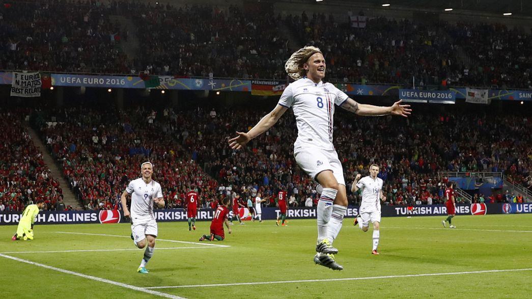 Euro 2016: Portekiz'e İzlanda çelmesi