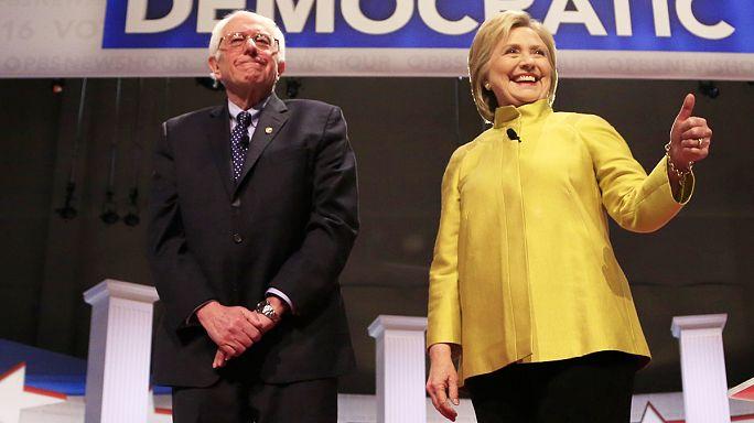 Хиллари Клинтон, победитель демократических праймериз, встретилась с Берни Сандерсом